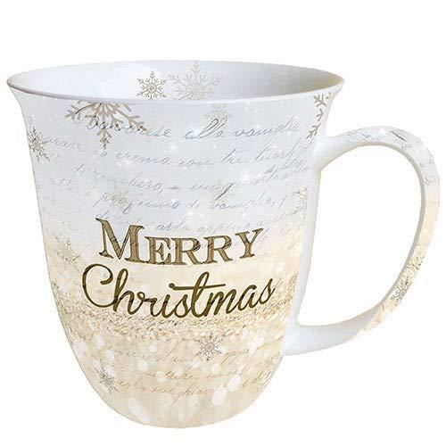 Ambiente Porzellan Becher Bone China Christmas X-Mas Atmosphere, Mug, Tasse, Fuer Tee Oder Kaffee ca. 0,4L