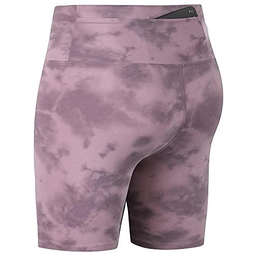 ArcherWlh Leggings Push Up,Pantalones Cortos de Ciclismo Femenino Yoga Jogging Pantalones Cintura Corbata Tinte impresión Desnuda Cadera Sentido de Lijado Aptitud Pantalones-Orgulloso púrpura_XXL