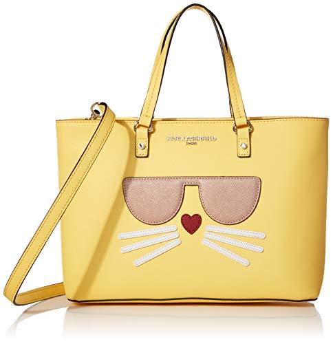 Karl Lagerfeld Paris Damen Tote Maybelle, Mini-Handtasche, Lemon Zest Choupette, Einheitsgröße