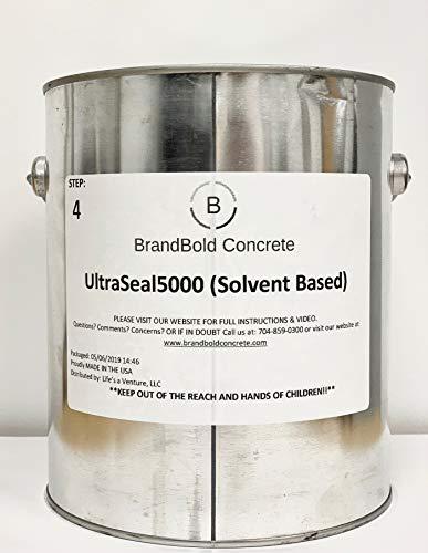 BrandBold Brilliance Concrete Acid Stain Sealer - UltraSeal 5000 (Solvent Based Sealer) - 1 Gallon - Step 4