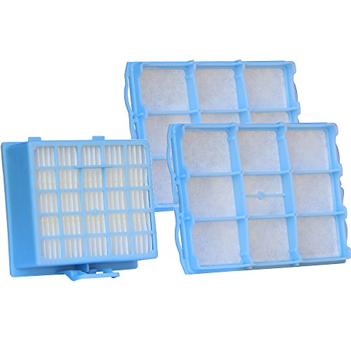 Filterset geeignet für Siemens VSZ 3.Serie Z 3.0/VSZ31455 /VS06G2410 | 1 Hepa Filter + 2 Motorschutzfilter