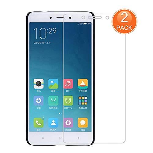 X-Dision [2 Pack Protector de Pantalla de Vidrio Templado Compatible con Xiaomi Redmi Note 4,[Ultra Resistente,Sin Burbujas,Fácil de Instalar] Protector de Pantalla para Xiaomi Redmi Note 4