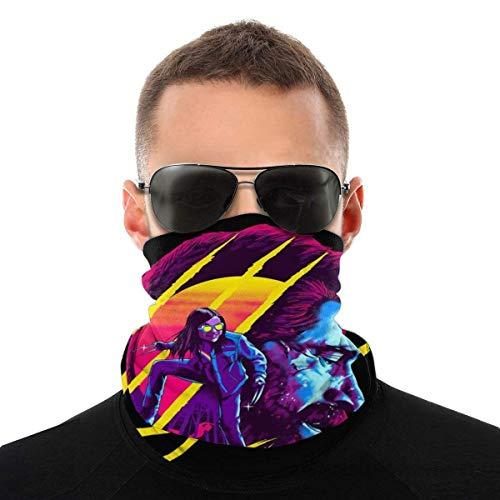 XCNGG Logan e Laura Side Profile WOL-Verine X Men Variety Head Sciarpa Maschera per Il Viso Copricapo Magico Ghetta per Il Collo Sciarpa Bandana per Il Viso Nero
