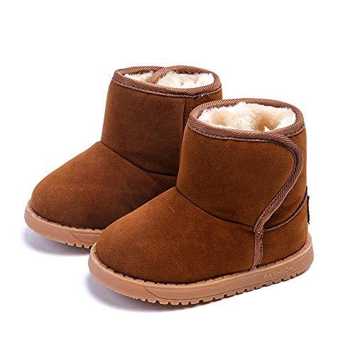 Botas Unisex de Nieve de Niñas Niños de Algodón Terciopelo Zapatos de...