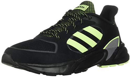 adidas Men's 90s Valasion Sneaker, Core Black/Hi Res Yellow/Grey Three, Size 8