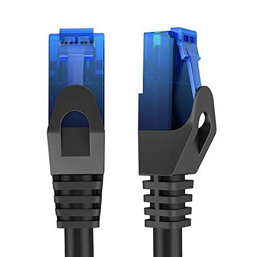 KabelDirekt - 10m - Netzwerkkabel, Ethernet, Lan & Patch Kabel (überträgt maximale Glasfaser Geschwindigkeit & ist geeignet für Gigabit Netzwerke, Switches, Router, Modems mit RJ45 Eingang, blau)
