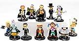No Figura de Anime One Piece 12 Unids/Set Colección de Muñecas Móviles de PVC de Estatuilla Anime Modelo Escultura Colección Regalo