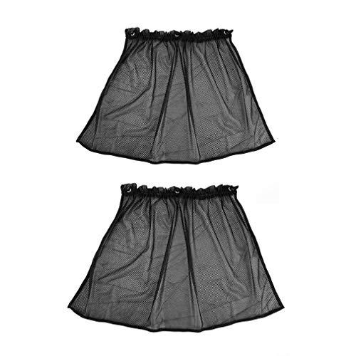 2 Piezas Parasol De Coche Lateral De Malla De Nailon Cortina De Ventana Parasol Protección UV Negro