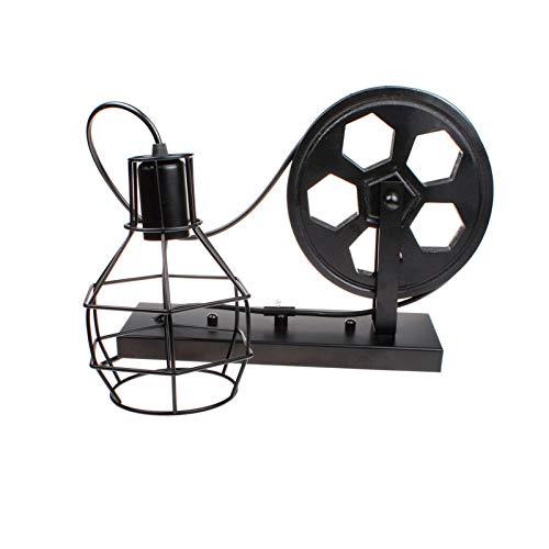 Aplique de Pared Vintage Lámpara de Pared de Hierro Sin Bombillas Jaula de Metal Negro Industrial Lámpara de Metall para Interior Exterior Apliques para Salon Dormitorio Sala Pasillo Escalera,Negro