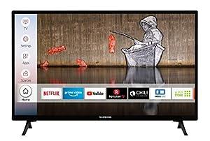 Techwood H32T52E 32 Zoll Fernseher (Smart TV inkl. Prime Video / Netflix / YouTube, HD ready, Works with Alexa, Triple-Tuner) [Modelljahr 2021]