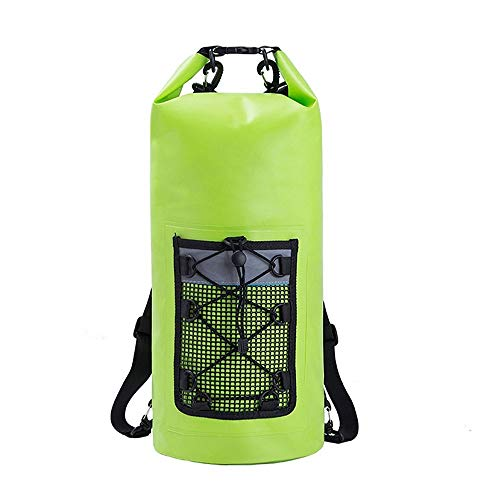 XinMeiMaoYi Outdoor Backpack Waterproof Bucket Bag Outdoor Leisure Shoulder Drifting Waterproof Bag Beach Swimming Bag Storage Folding Diving Bag Strong And Watertight (Color : Green)