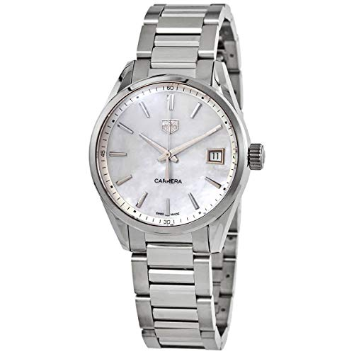 Tag Heuer Carrera cuarzo blanco madre de Pearl Dial señoras reloj WBK1311.BA0652