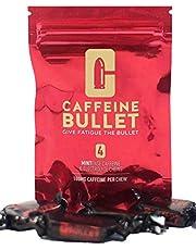 Caffeine Bullet 4 Minze Coffein & Elektrolyt bonbons – übertrifft Energy gel, Kaugummi, Energieriegel & Tablette. Ausdauer Sportler Energie schuss zum Marathons, Radfahren, Fitness oder Pre Workout.