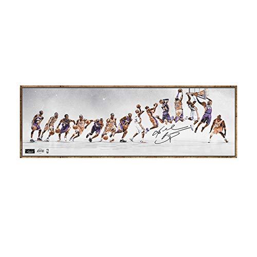 GYXH Carteles clásicos Pintura Decorativa Lienzo Arte de la Pared Sala de Estar Pintura Colgante Dormitorio Pintura al óleo Estrella de Baloncesto 20X60cm Sin Marco