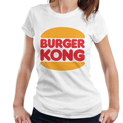 Women's Burger Kong Funny T-shirt, Black or White, S to XXL