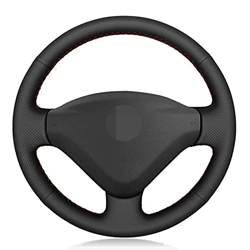 USNASLM Cubierta de Cuero para Volante de Coche, Apto para Peugeot 207 2006-2014 Expert 2008-2016 Partner 2009-2018 Fiat Scudo 2010-2016