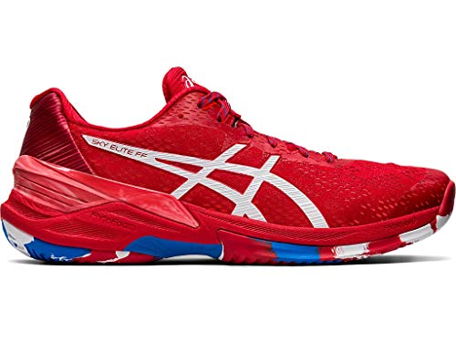 ASICS Men's Sky Elite FF L.E. Volleyball Shoes, 10.5M, Classic RED/White