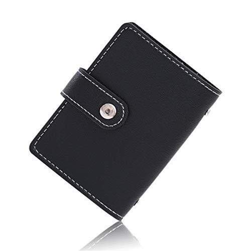 ZOYOSI 26 ranuras para tarjetas de cuero portátil cartera antirrobo cepillo escudo NFC/RFID titular de la tarjeta