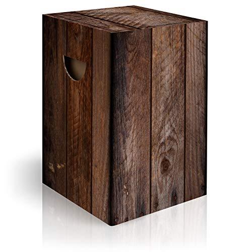 murando Papphocker Motiv Holz 45x30x30 cm faltbar Papier Hocker ergonomischer Karton Photohocker Falthocker f-C-0308-ap-a