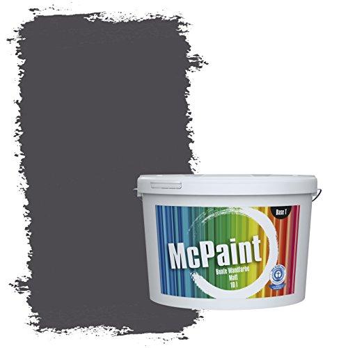 McPaint Bunte Wandfarbe matt für Innen Dunkelgrau 2,5 Liter - Weitere Graue Farbtöne Erhältlich - Weitere Größen Verfügbar