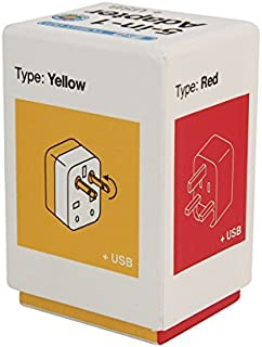 Flight 001 5-in-1 Travel Adapter with Dual USB Charger, Multi, One Size