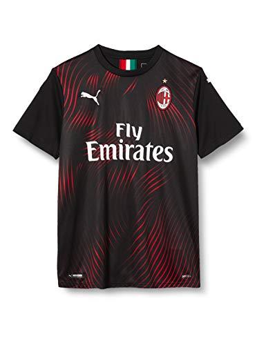 Puma AC Milan Kinder Replica Camiseta de Manga Corta, Unisex niños, Negro Black/Tango Red, 176