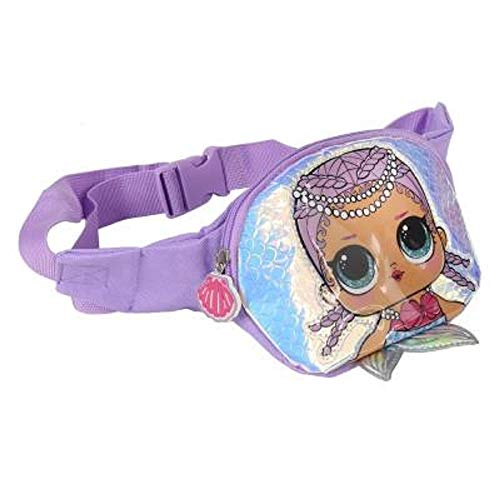 L.O.L. Surprise ! 3D Dolls Waist Pack For Girls & Teens |Confetti Pop Collection Featuring Queen Bee, Merbaby, Kitty Queen And Unicorn | Handy Bumbags Or Sling Bag | Great Birthday Gift Idea (Mermaid)