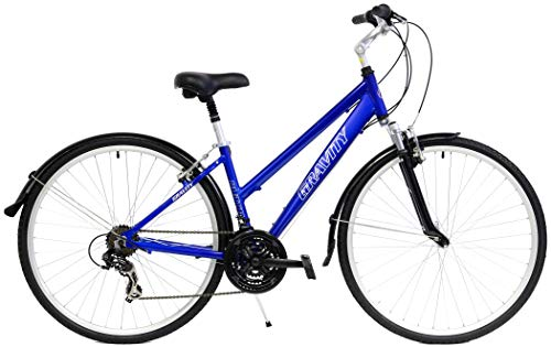 """New in Box Gravity Dutch 21 Speed Hybrid City Commuter Bicycle with Fenders (Royal Blue, 20"""" Mens fits Most Riders from 6' to 6'2"""")"""