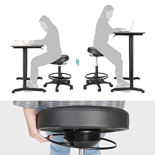 Bürohocker 59,5-81 cm schwarz OSC007B01