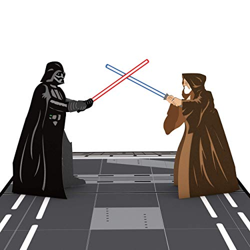 Star Wars Obi-Wan vs. Darth Vader Pop Up Card, 3D Card, Star Wars Birthday Card, Greeting Cards, Card for Dad, Birthday Card for Kids