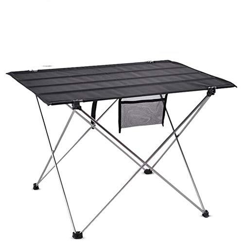 SHUAISHUAI Mesa de Camping al Aire Libre portátil Muebles de Escritorio Plegables Cama de computadora Ultralight Aluminio Senderismo Escalada Picnic Mesas Plegables Fácil de Usar