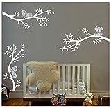 BDECOLL Adhesivo mural decorativo de vinilo/3 Lovely Koalas vinilo pared pegatinas para niños habitación Guardería infantil Bebé decoración (Blanco)