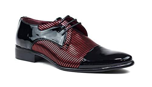 Zapatos de oficina formales para hombre, con cordones, para fiesta, boda, talla...