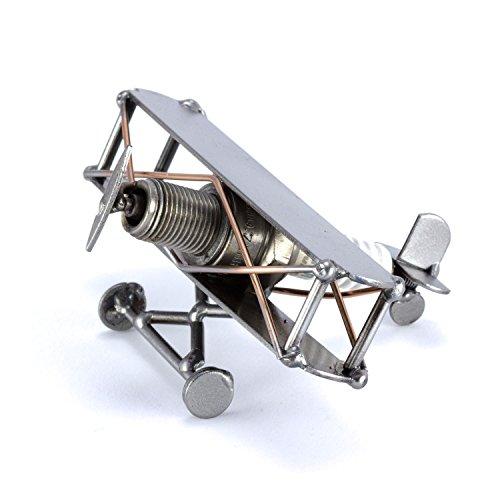 Steelman24 I Schraubenmännchen Flugzeug Mini Doppeldecker I Made in Germany I Handarbeit I Geschenkidee I Stahlfigur I Metallfigur I Metallmännchen