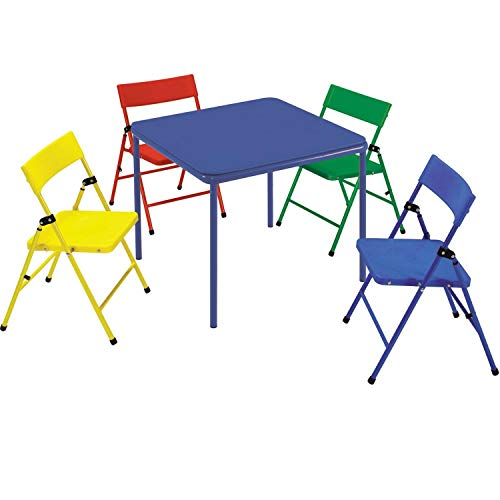 Kids 5 Piece Folding Chair and Table Set - Red/Yellow/Blue - Cosco