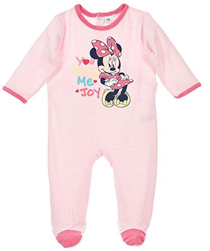 Pyjama velours bébé fille Minnie Rose de 3 à 23mois (23 mois, Rose)