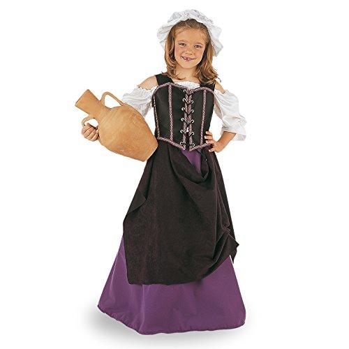 Limit Sport - Disfraz de tabernera medieval para niña (MI239)