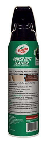 Turtle Wax Power Out Leather Cleaner and Conditioner 15.5 Fluidounces