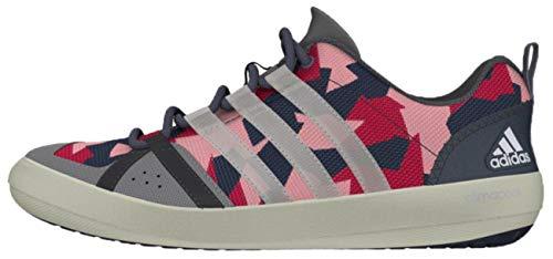adidas Sailing Damen Herren Segelschuhe Camouflage Deckschuhe, Größe:42 2/3 EU, Farbe:Onix/White/Pink