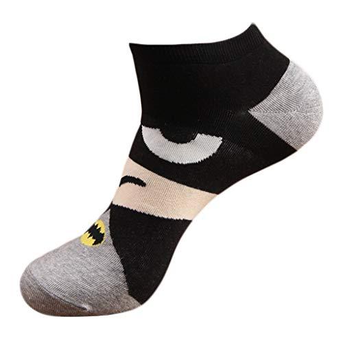 Gjyia mannen unisex voorjaar zomer kort over enkelboot sokken grappig leuke kleurrijke cartoon hero karakter alliantie gedrukt gekamd katoen panty 8 soorten
