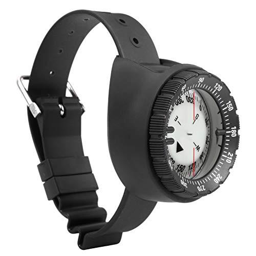 Bnineteenteam Brújula de muñeca de Buceo, CP-991 50m Reloj de Buceo Brújula Impermeable Underwatr Brújula de Buceo Luminosa equilibrada Brújula de muñeca