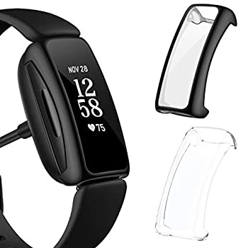 EZCO 2-Pack Screen Protector Case Compatible with Fitbit Inspire 2  Not for Inspire  Full Coverage High HD Case Protective Screen Cover Bumper Frame for Inspire 2 Smartwatch