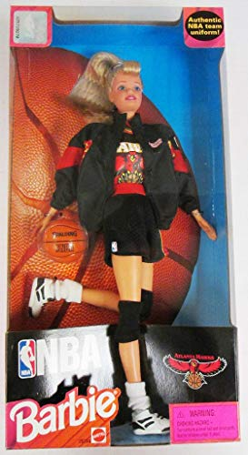 Barbie 1998 National Basketball Association NBA 12 Inch Tall Doll - Atlanta Hawks Barbie with Authentic NBA Team Uniform, Jacket, Shoes, Socks, Basketball and Hairbrush