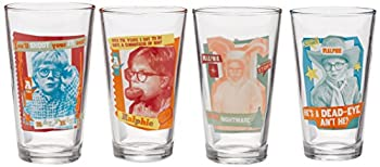 ICUP a Christmas Story Ralphie Pint Glass  4 Pack  Clear