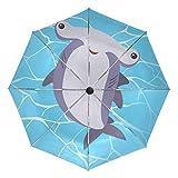 FANTAZIO - Paraguas de Viaje con Martillo de tiburón y Apertura automática