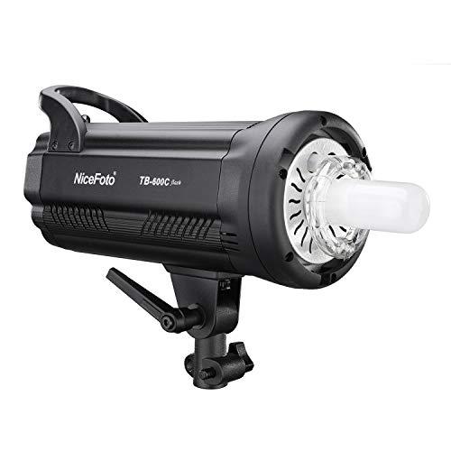 Fesjoy TB-600C Professional 600W Studio-Blitzlicht 5500K Blitzlichtlampe GN90 Schnelle Recyclingzeit 0,1-1,2 s LED-Display Bowens Mount für Studio-Porträt Mode Hochzeit Produktfotografie