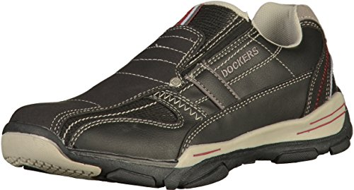 Dockers by Gerli Herren 42HY001 Slip On Sneaker, Schwarz (Schwarz 100), 43 EU