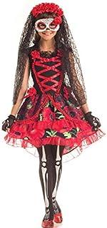 Disfraz de Novia Muerta de 3 Piezas para niñas Día de los