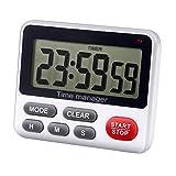 AIMILAR - Temporizador digital de cuenta regresiva para cocina, con alarma magnética, color blanco.