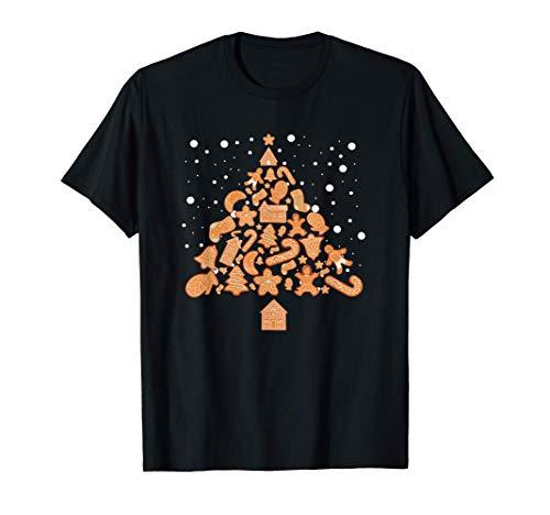 Galletas de jengibre Galletas del árbol de Navidad Disfraz Camiseta